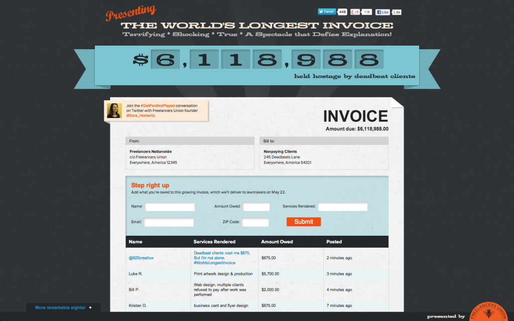 The World's Longest Invoice