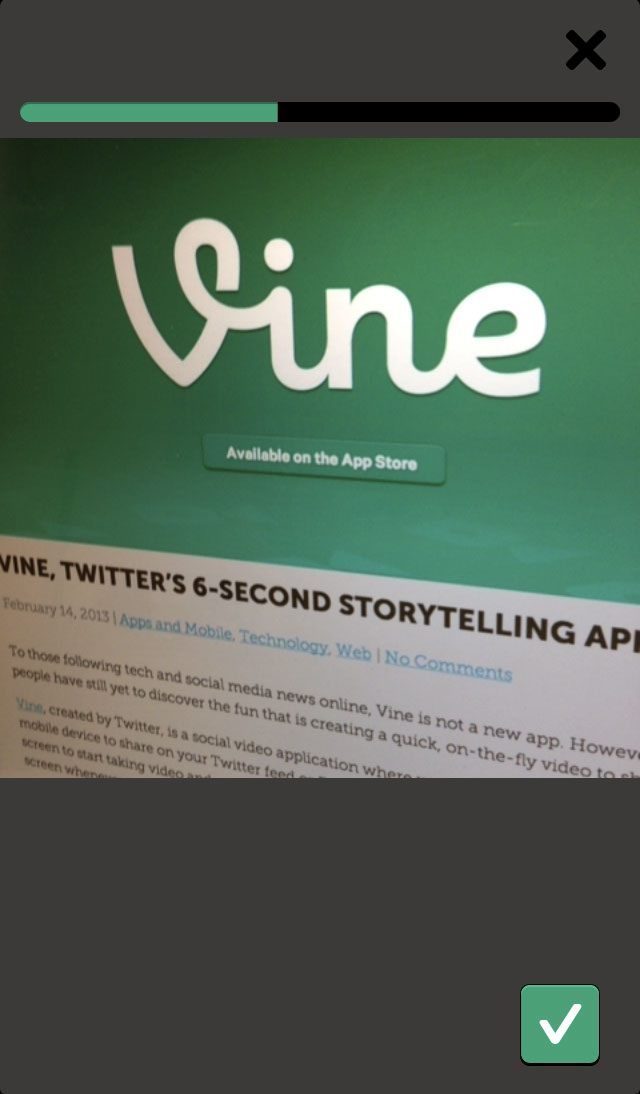 Vine Take Video