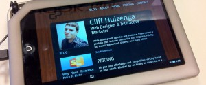 Cliffpro on a nook Tablet